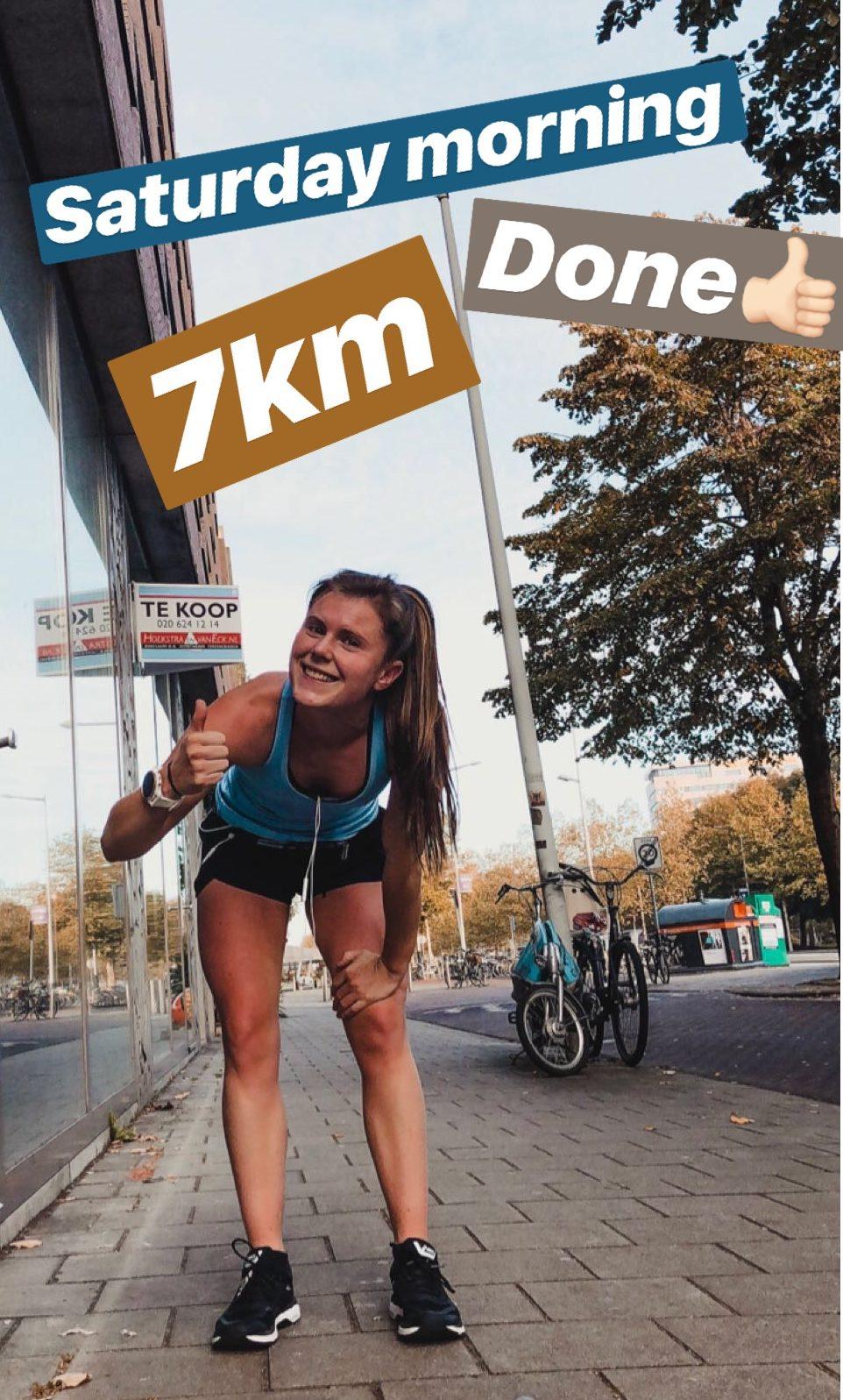 7km run