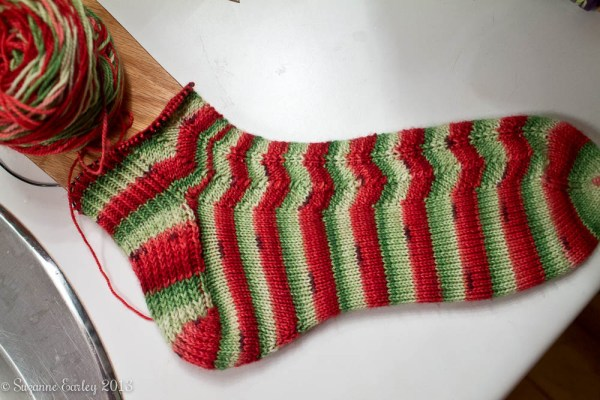 sock progress
