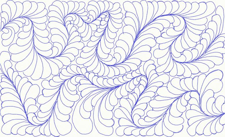 feathered meander drawing
