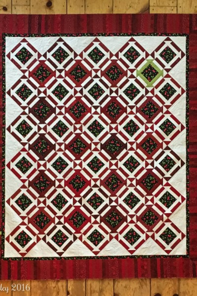 Cherry Churn Dash Surprise — a {mostly} finished quilt!