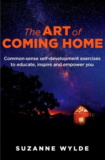 Book cover showing a starry sky and a log cabin with a warm glow