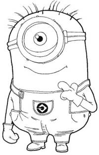 Minions - Free Colouring Pages