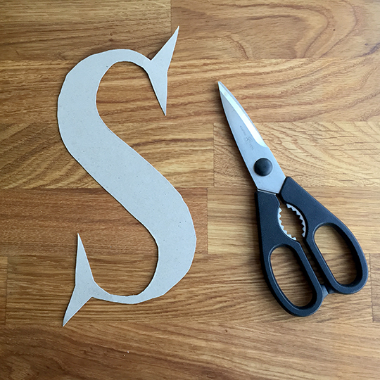 Create a stick and twig letter