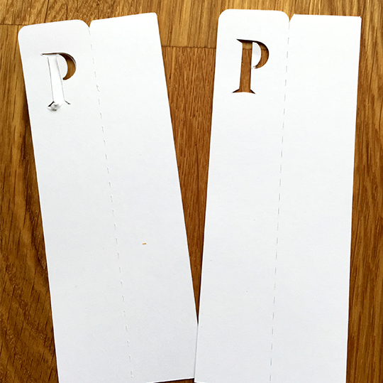 Adjusted paper cut settings in Silhouette Studio fix the initial bookmark