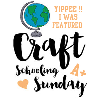I was featured at Craft Schooling Sunday