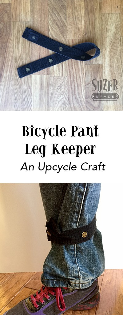 Upcycle the snap plackets from an old shirt into a bicycle pant leg keeper