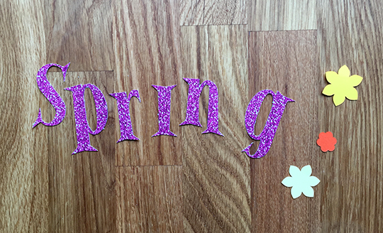 Parts for the sparkly spring sign