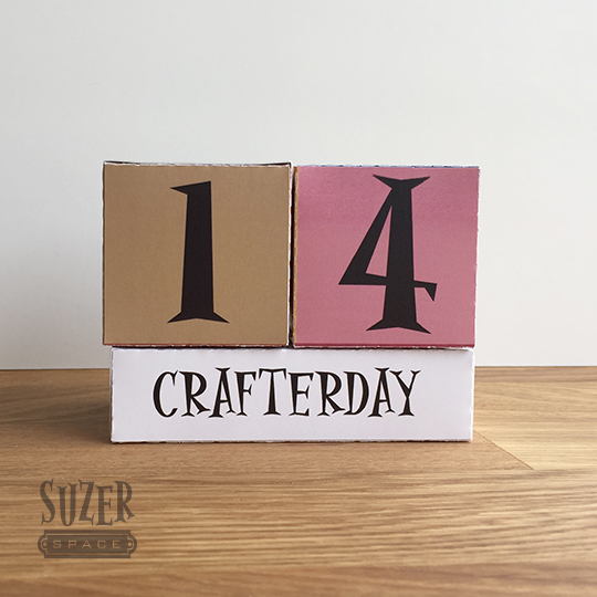 Paper Box Templates and Silhouette Studio's Print & Cut Feature make it easy to make a paper box perpetual calendar | suzerspace.com