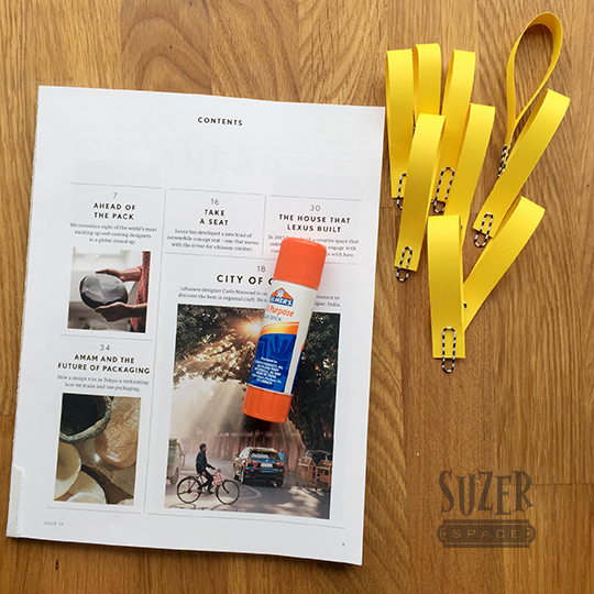 Save you junk mail to create a protective surface for using a glue stick | suzerspace.com
