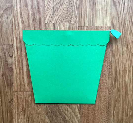 All folded up flowerpot card