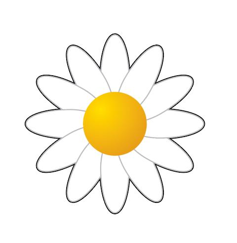 Daisy for a daisy flower pot birthday card