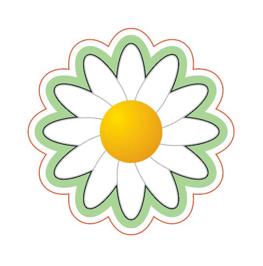 Daisy with offsets for a daisy flowerpot birthday card
