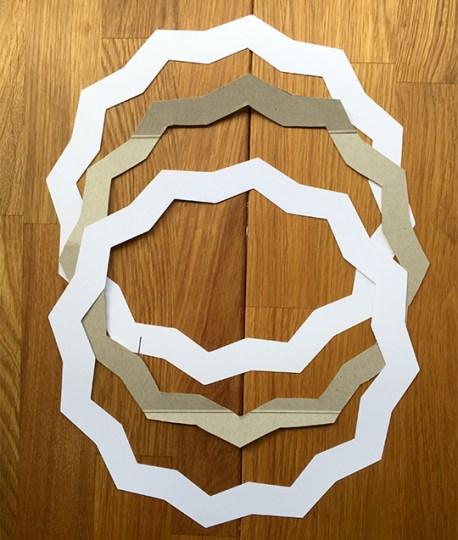 frame shape for a glitter star wreath