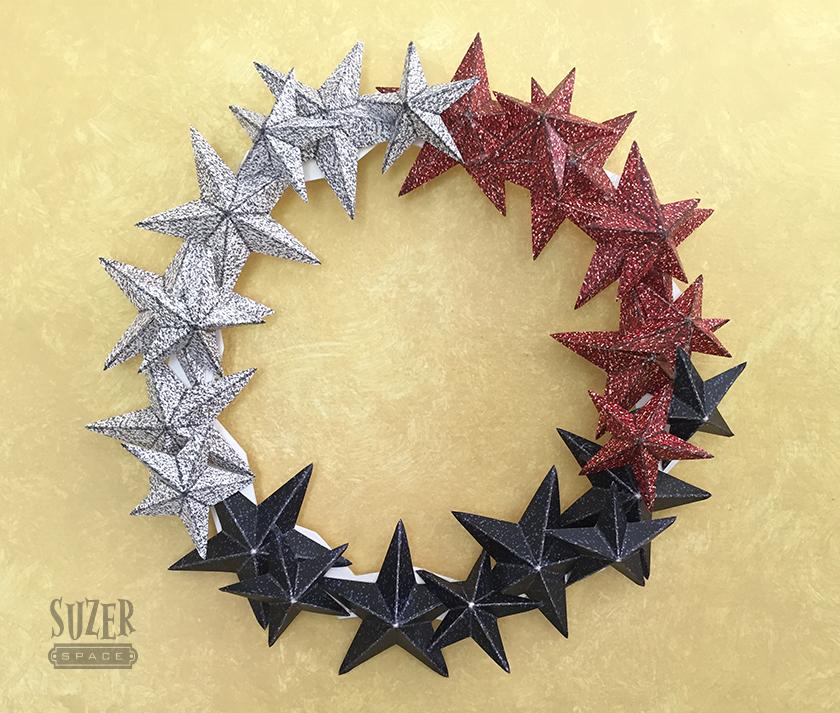 Glitter Star Wreath | SuzerSpace
