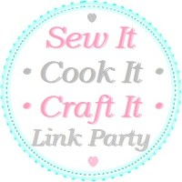 I was featured at the Sew It Cook It Craft It Linkup!