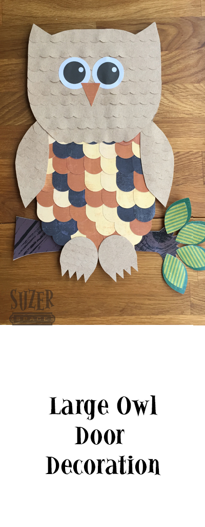 Celebrate Fall with a big owl door decoration made from paper! | suzerspace.com