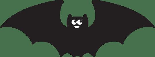 Bat drawing for batty chandelier