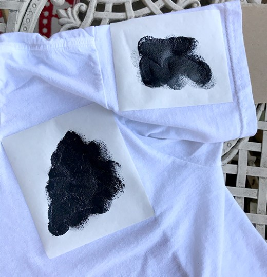 Freezer paper stencil bat shirt
