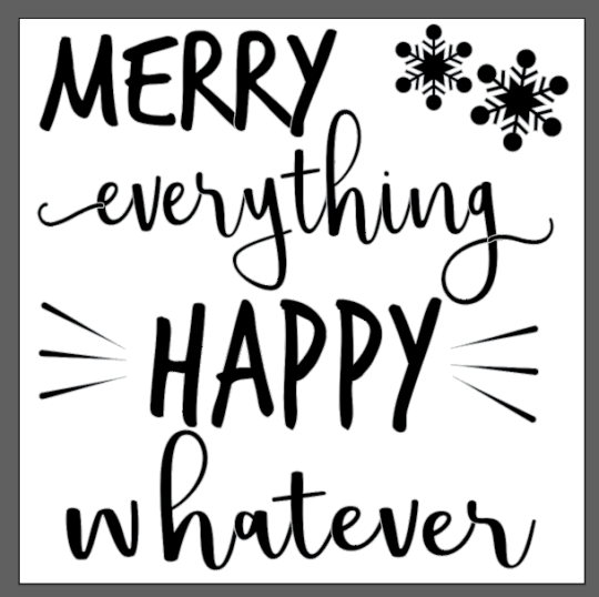 artwork for the merry everything door sticker
