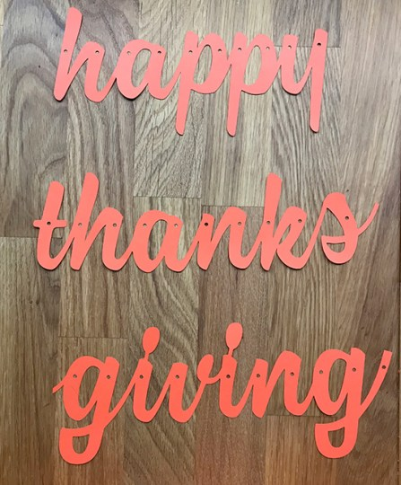 happy thanksgiving banner cut letters