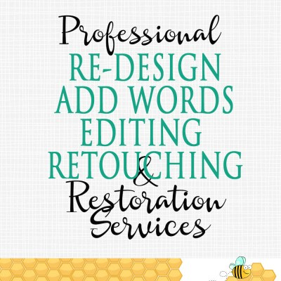 Editing ReDesign Add On, Retouching Services