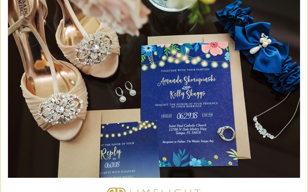 Kelly & Amanda's Custom Designed Wedding Invitations