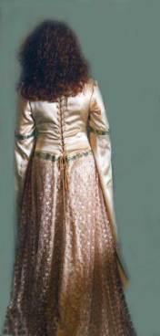 Accolade wedding dress, back