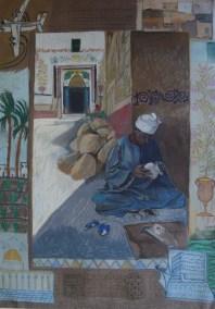 Alabaster craftsman, Korna village, Egypt