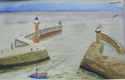 Whitby bay harbour