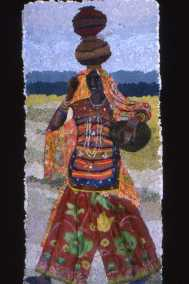 Woman carrying three pots,  Ludia