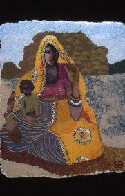 Woman with baby, Pushkar
