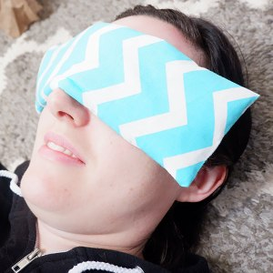 The use of an eye pillow can really enhance your meditation and relaxation practice by applying light pressure on the eyes.