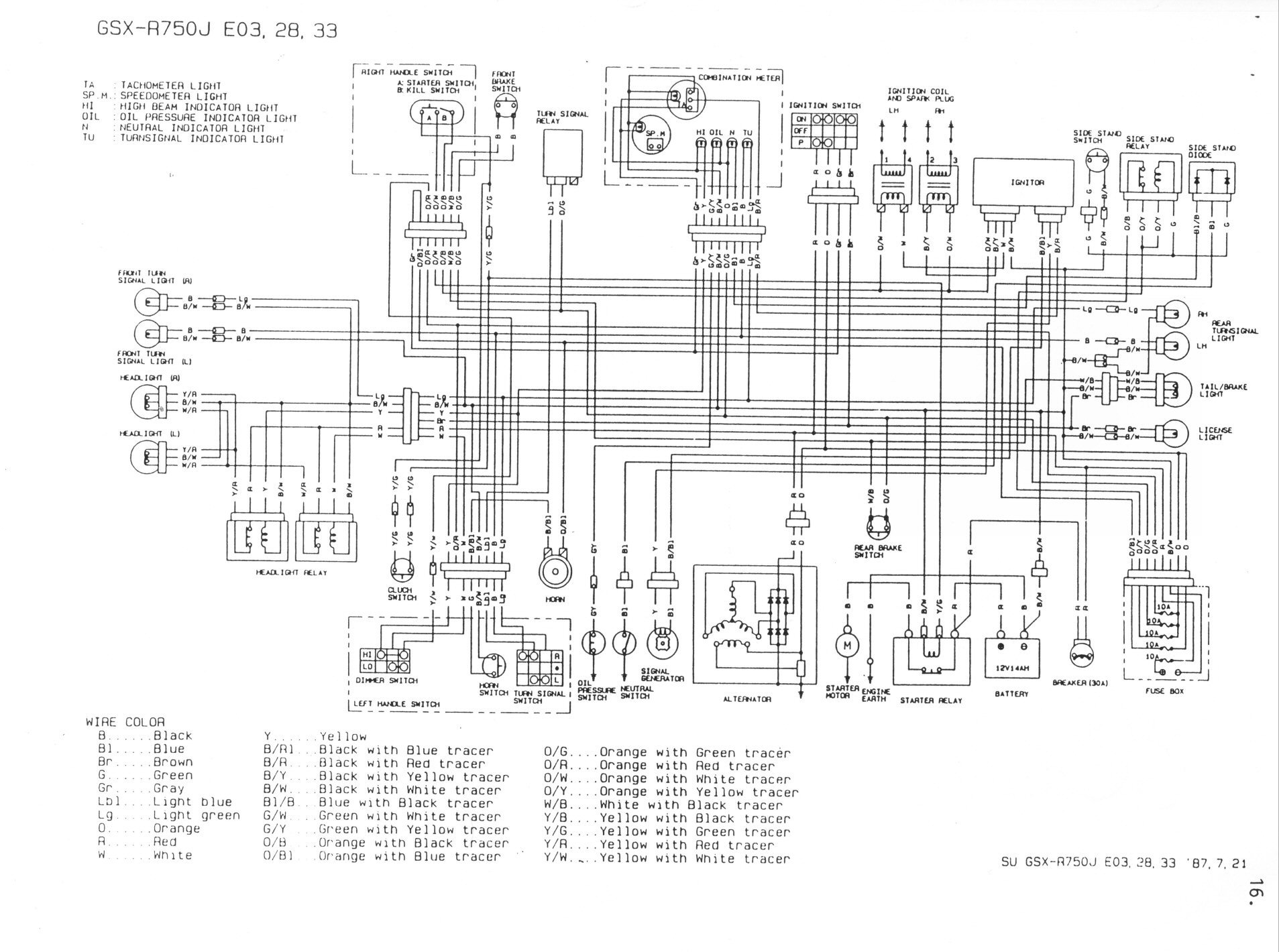 91 Gsxr 750 Wiring Diagram