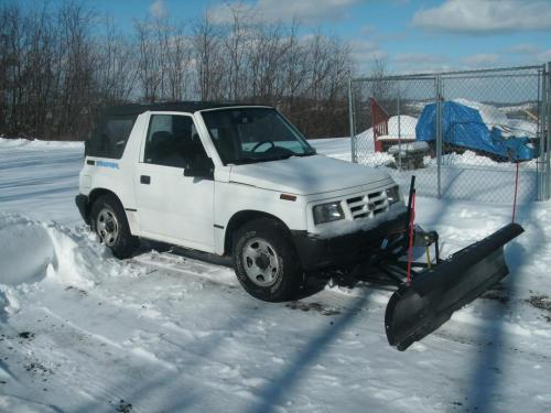 small resolution of 96 geo traracker with plow amp salt spreader 96 tracker front