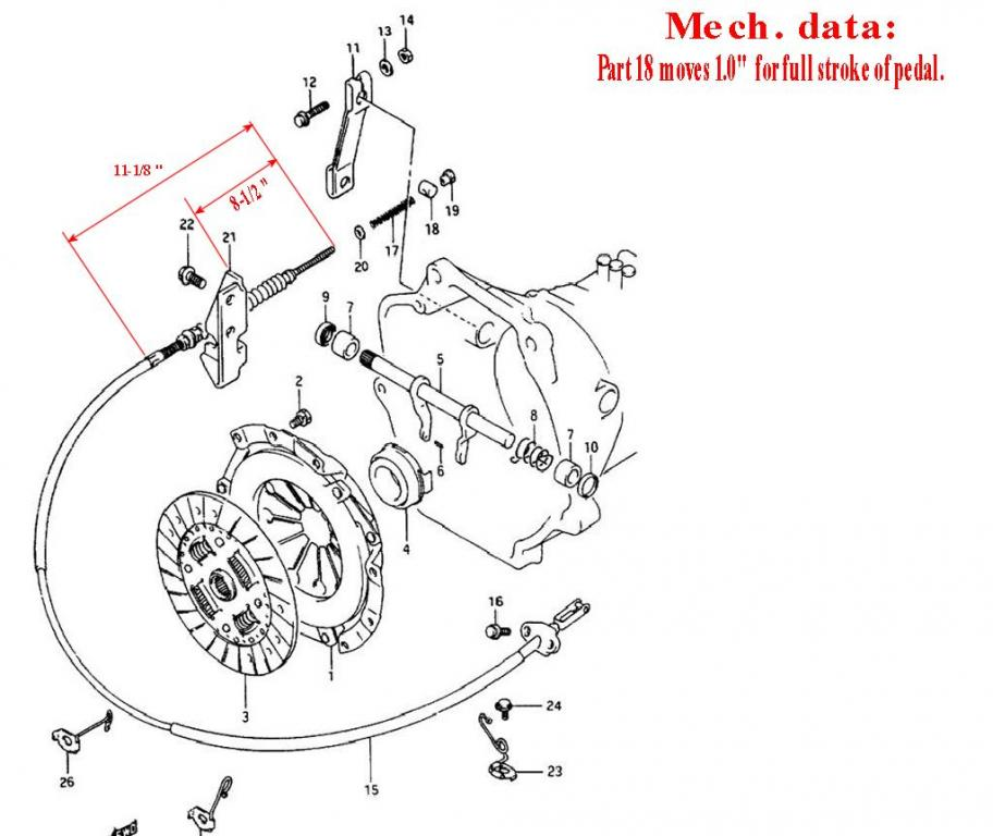 Service manual [1996 Geo Tracker Transmission Shift Cable