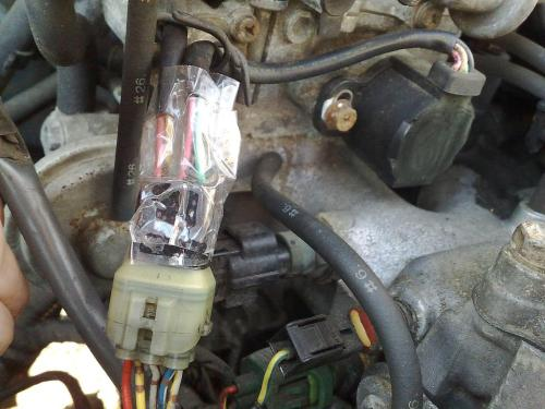small resolution of a piece of tape fixed my intermittent stall tps wiring harness tps wiring harness 07