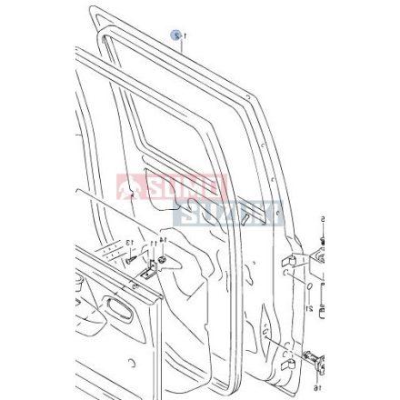 Suzuki WagonR+ bal hátsó ajtó csak GLX felszereltség 68004