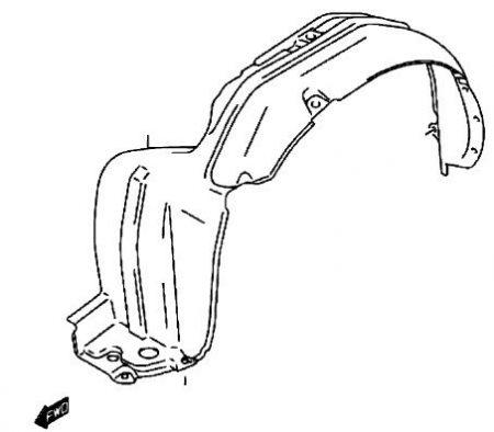 Suzuki Wagon R műanyag sárvédő dobbetét dob betét bal