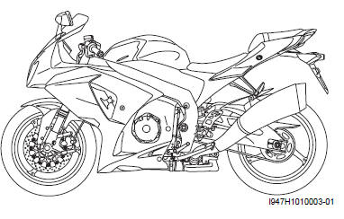 Suzuki GSX-R 1000 Service Manual: Vehicle side view
