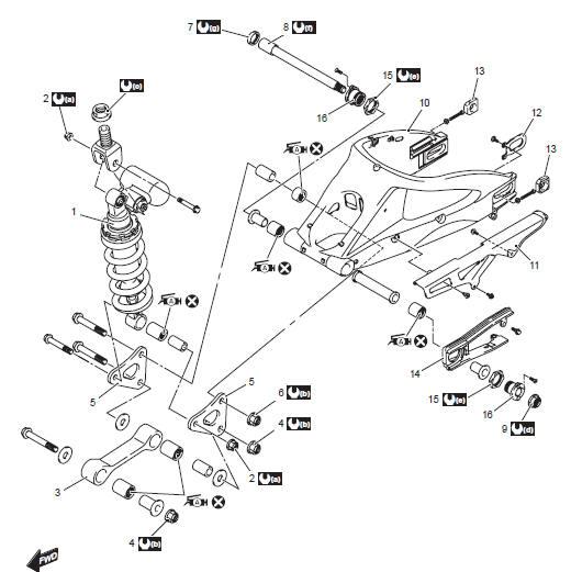 Suzuki GSX-R 1000 Service Manual: Rear suspension