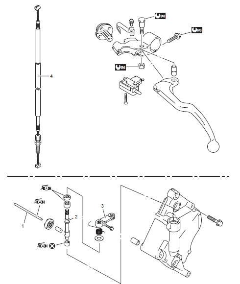 Suzuki GSX-R 1000 Service Manual: Clutch control system