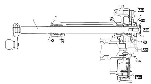 Suzuki GSX-R 1000 Service Manual: Gearshift shaft