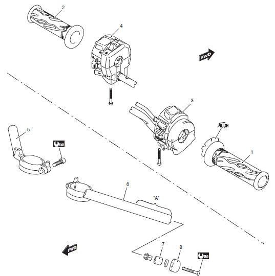 Suzuki GSX-R 1000 Service Manual: Handlebar components