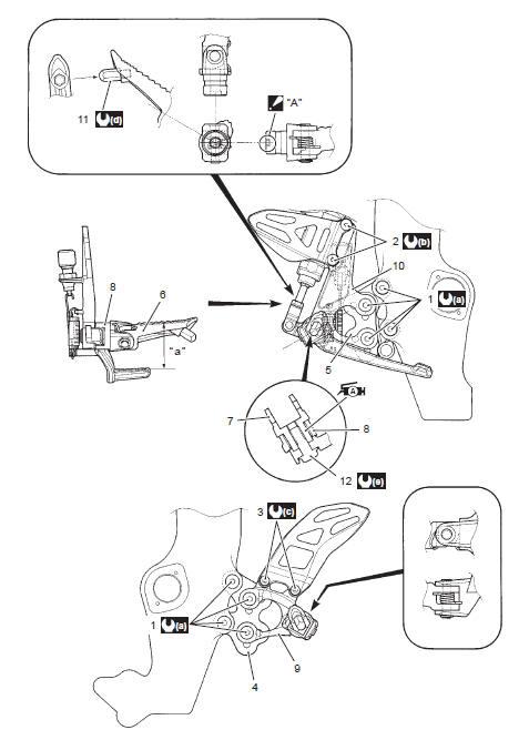 Suzuki GSX-R 1000 Service Manual: Front footrest bracket