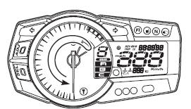 Suzuki GSX-R 1000 Service Manual: Combination meter