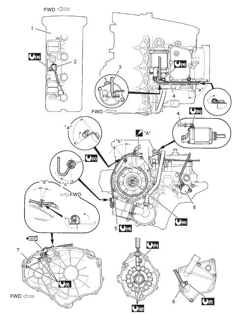Suzuki GSX-R 1000 Service Manual: Wiring harness routing