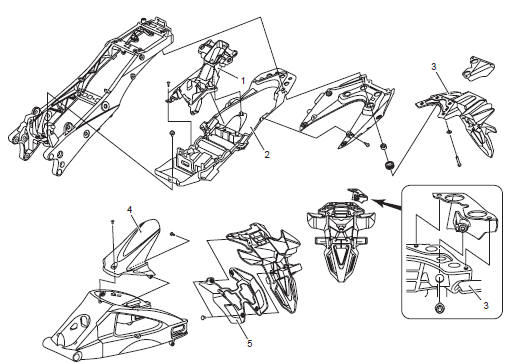 Suzuki GSX-R 1000 Service Manual: Rear fender construction