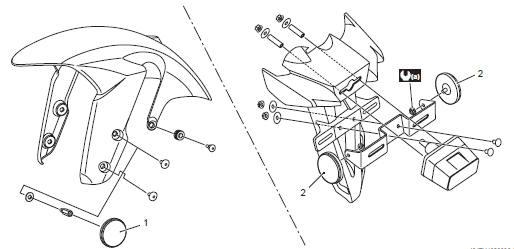Suzuki GSX-R 1000 Service Manual: Reflex reflector