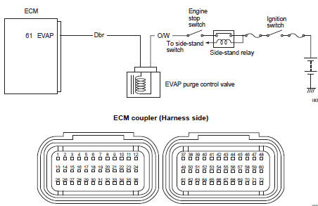 "Suzuki GSX-R 1000 Service Manual: DTC ""c62"" (p0443): evap"