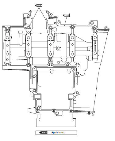 Suzuki GSX-R 1000 Service Manual: Engine bottom side